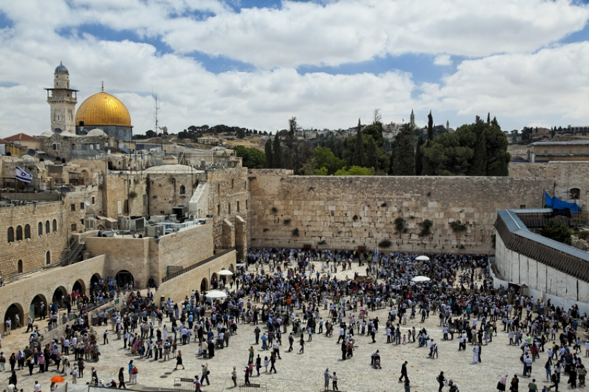 This Western Wall of the Temple Mount is a Holy Site for Jewish Worshipers