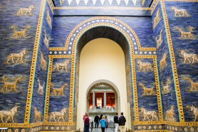 Ishtar gate from Babylon in Pergamon museum, Berlin - Germany