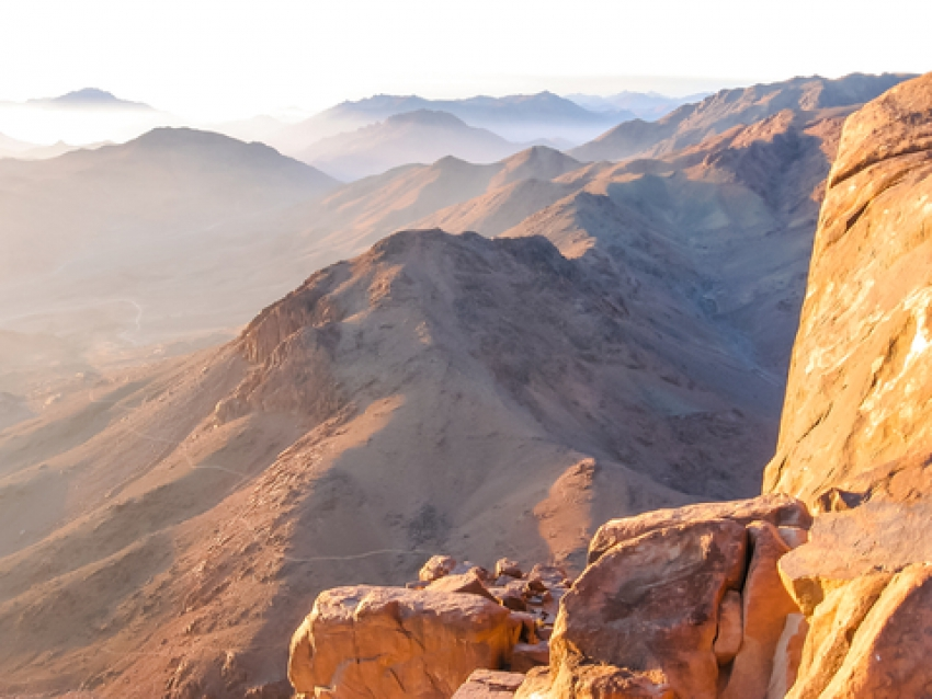 Mount Sinai in Egypt Where the Ten Commandments Were Given