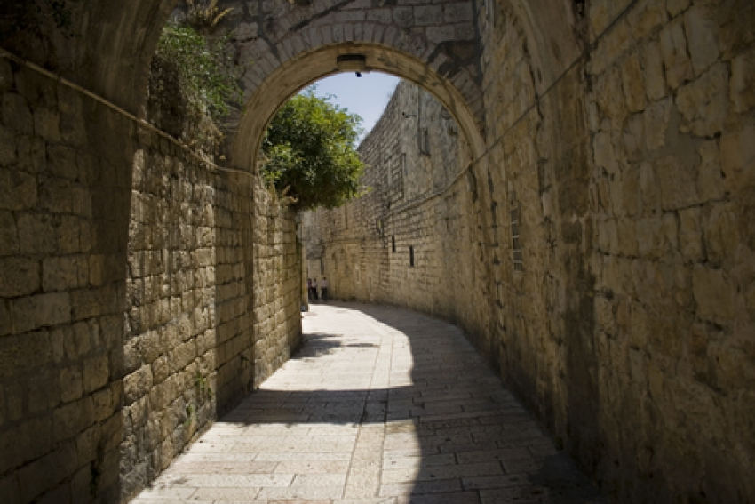 The Old City in Jerusalem Features Beautiful Ancient Stone Architecture From the Middle Ages